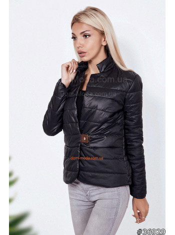 Женская куртка жакет с воротником-стойкой