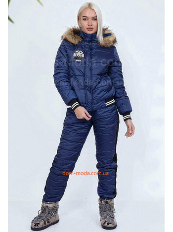 Женский стеганый лыжный костюм из плащевки