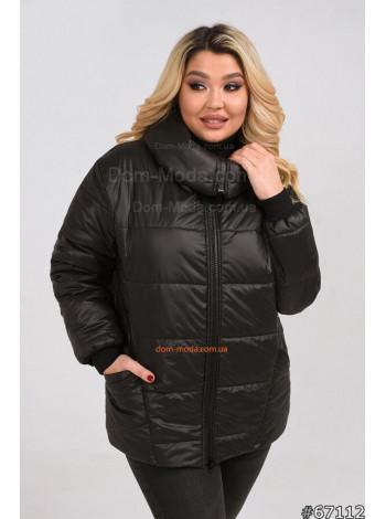 Жіноча коротка куртка великого розміру