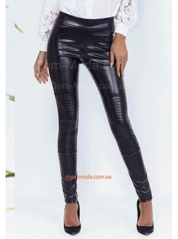 Черные лосины женские кожа