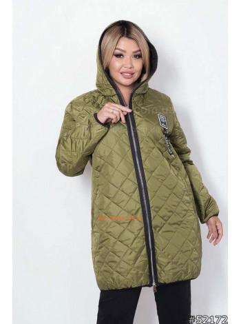 Женская демисезонная куртка большого размера