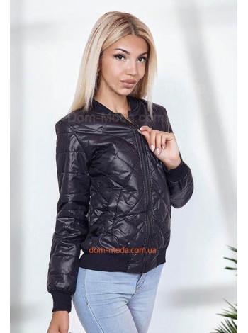 Женская легкая куртка бомбер на змейке
