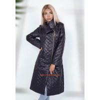 Женское стильное пальто стеганое. Норма и батал
