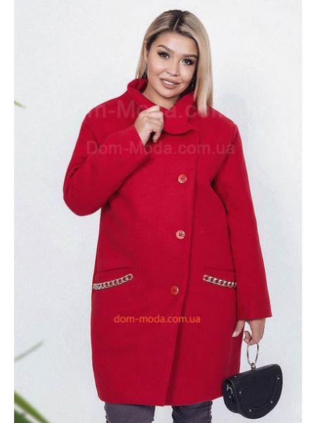 Женское кашемировое пальто большого размера