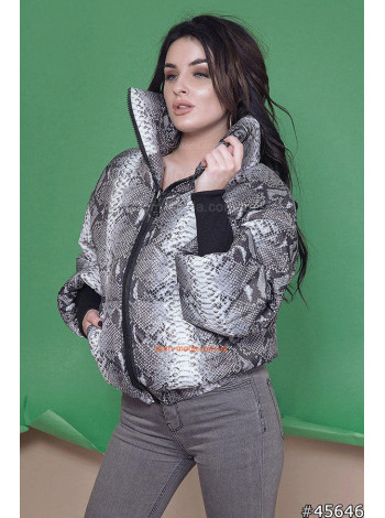 Демісезонна жіноча куртка з принтом