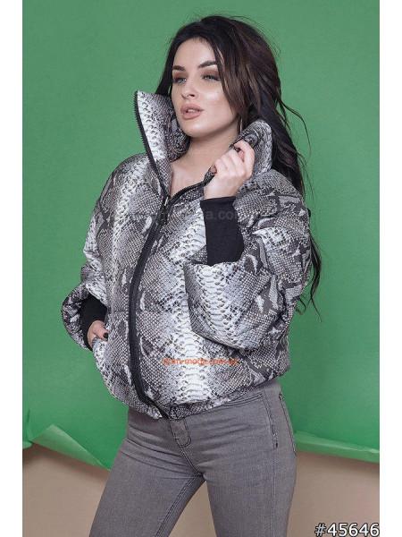 Демисезонная женская куртка с принтом