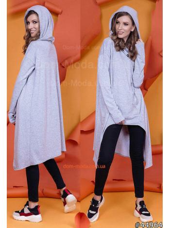 Женская модная туника с длинным рукавом большого размера