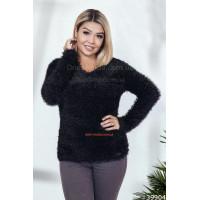 Жіночий теплий светр з ворсом