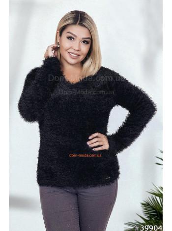 Женский теплый свитер с ворсом