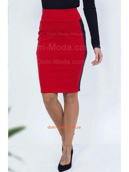 Трикотажная юбка с лампасами