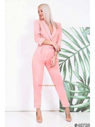 Женский деловой комбинезон с брюками