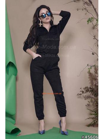 Модный замшевый комбинезон женский