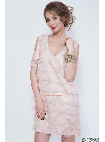 """Женское стильное вечернее платье мини """"Астра"""""""