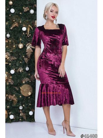 """Модное миди платье с коротким рукавом """"Медея"""""""