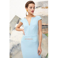 Короткое летнее женское платье для офиса