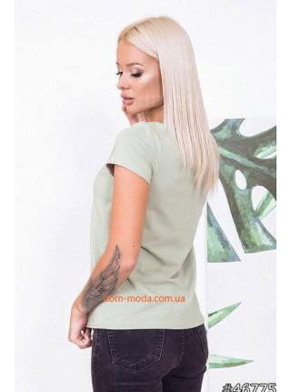 Летняя женская футболка с принтом камни