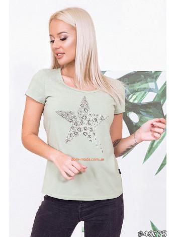 Літня жіноча футболка з принтом камені