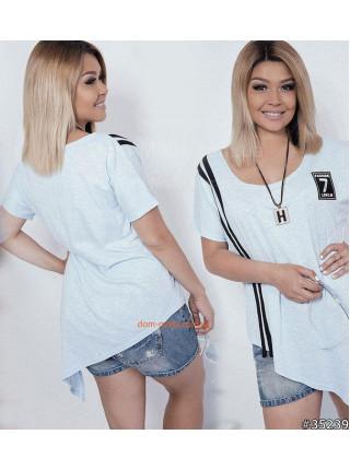 Модная женская футболка с завязками для полных