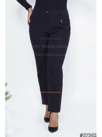Женские классические брюки черного цвета большого размера