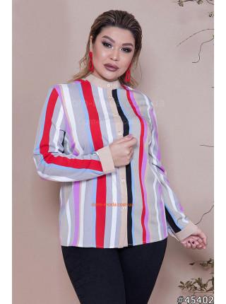Модна жіноча рубашка без коміра