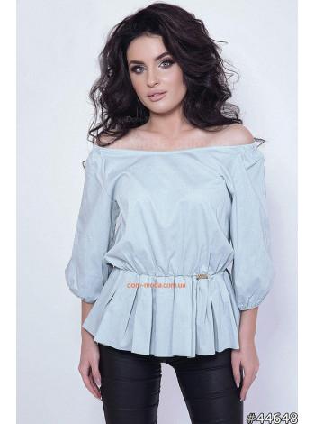 Летняя женская рубашка с открытыми плечами