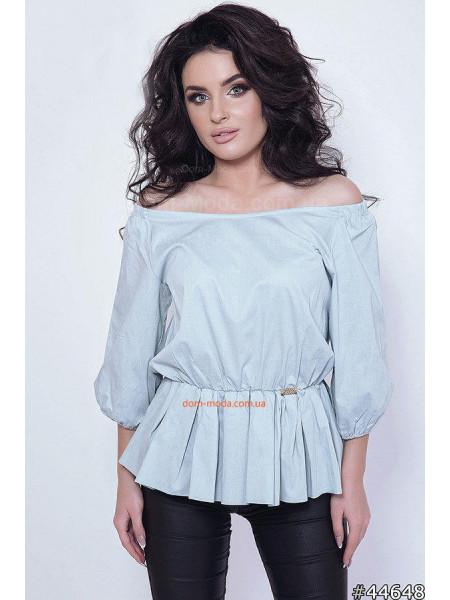 Літня жіноча рубашка з відкритими плечима