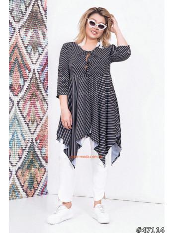 """Женская удлиненная рубашка большого размера """"Туника"""""""