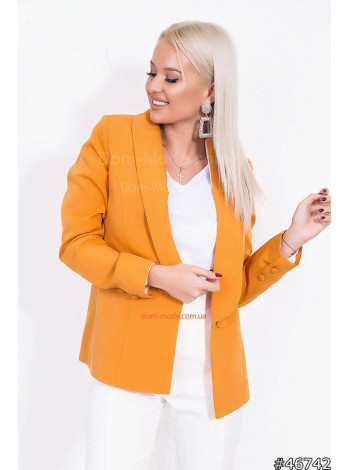 Модный удлиненный пиджак на одну пуговицу