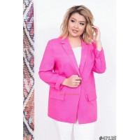 Женский удлиненный пиджак для полных