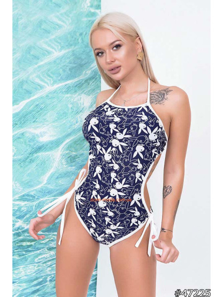 Женский слитный купальник с открытой спиной