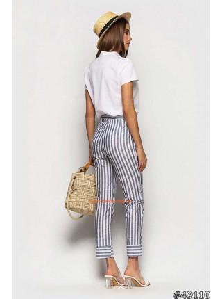 Летние штаны в полоску для женщин