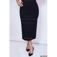 Женская модная юбка за колено с высокой посадкой