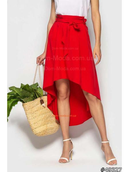 Жіноча асиметрична юбка з високою талією