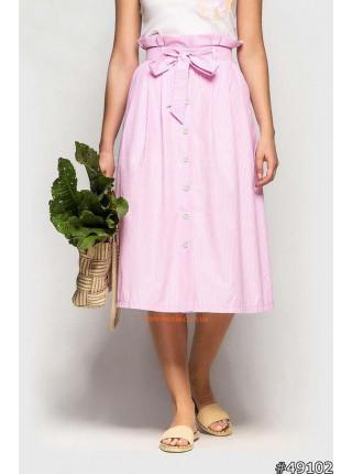 Літня юбка міді з гудзиками