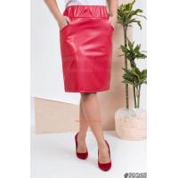 Короткая кожаная юбка большого размера