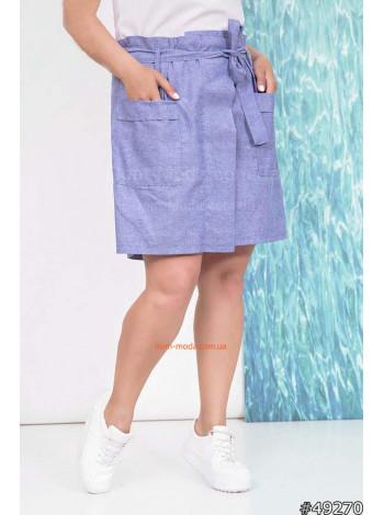 Женская юбка шорты для полных