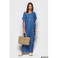 Жіноче довге трикотажне плаття з принтом