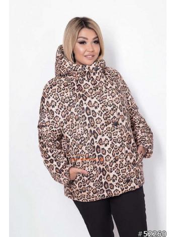 Женская модная куртка с принтом