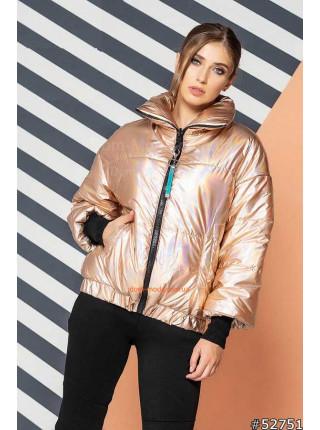 Женская куртка с высоким воротником