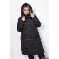 """Женская теплая куртка большого размера """"Сова"""""""