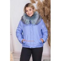 """Женская укороченная куртка с мехом """"Кети"""""""