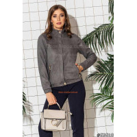Короткая куртка женская замшевая