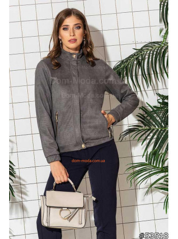 Коротка куртка жіноча замшева
