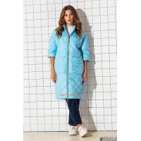 Стильна однотонна подовжена куртка прямого силуету