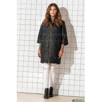 Модна однотонна жіноча куртка прямого силуету