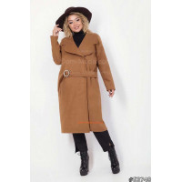 Жіноче легке кашемірове пальто без підкладинки великого розміру