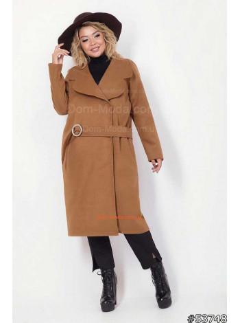 Женское легкое кашемировое пальто без подкладки большого размера