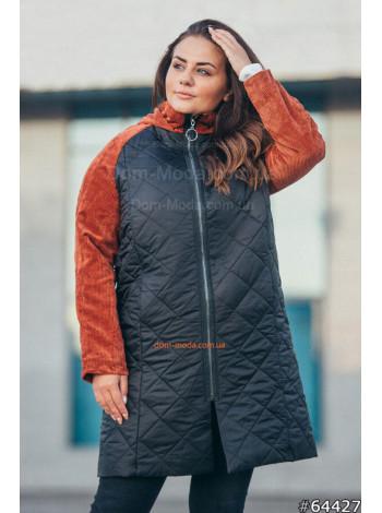 Куртка демісезонна жіноча великого розміру