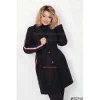 Модное кашемировое пальто большого размера