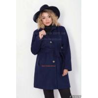 Стильне пальто жіноче з поясом великого розміру